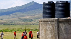 water tanks at the Gentle Bells school in Kenya