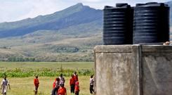 water tanks at the Gentle Bells school in Kenya